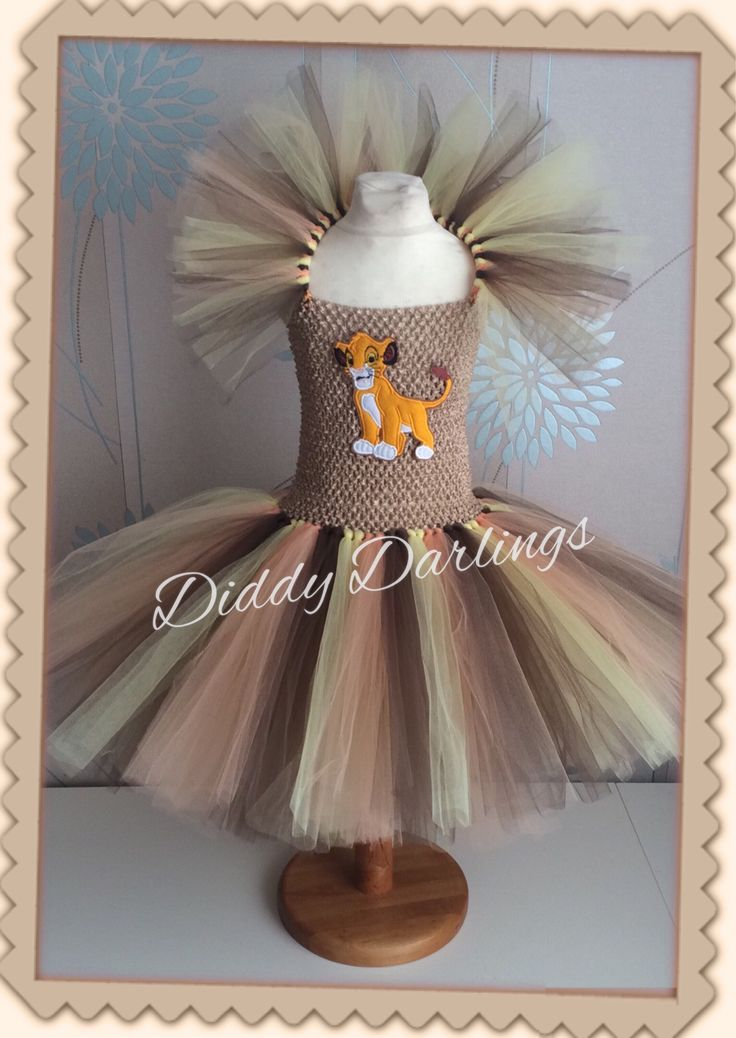 Simba Tutu Dress.  Elsa Pirate Tutu Dress.  Beautiful & lovingly handmade.  All characters and colours available Price varies on size, starting from £25.  Please message us for more info.  Find us on Facebook www.facebook.com/DiddyDarlings1 or our website www.diddydarlings.co.uk