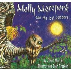 Molly the Morepork & the Lost Campers. Molly the Morepork only comes out at night. All of the other birds have gone to bed and she has nobody to play with. Then one night some children get lost in the bush. Can Molly show them the way back to their camp? A rhyming picture book by award winning New Zealand author Janet Martin with illustrations by Ivar Treskon. Made in New Zealand for ages 2-6.  See more at www.entirelynz.co.nz/gifts