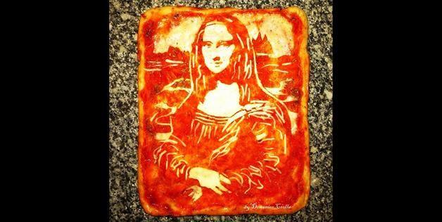 Mona Lisa pizza (© Domenico Crolla via Instagram)