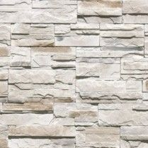 Engineered stones with a stacked look work great on fireplace surrounds.  This is a new product from Emser called Cascade Mountain: Alberta. #homeplusfloors #emser