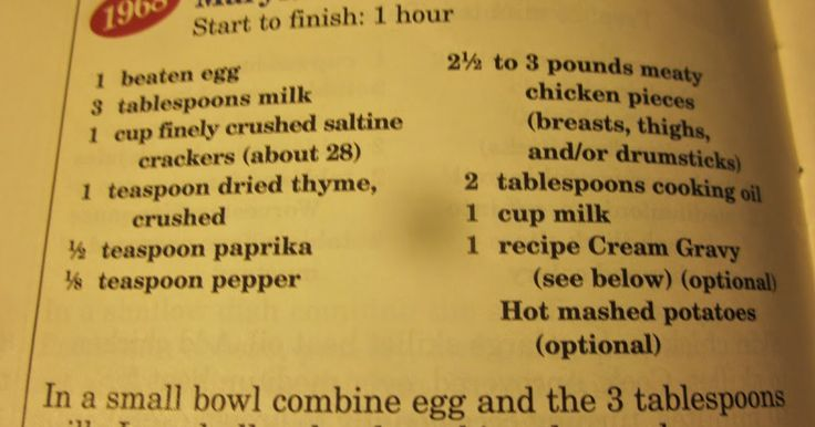 Grandma's Vintage Recipes: 1968 MARYLAND FRIED CHICKEN