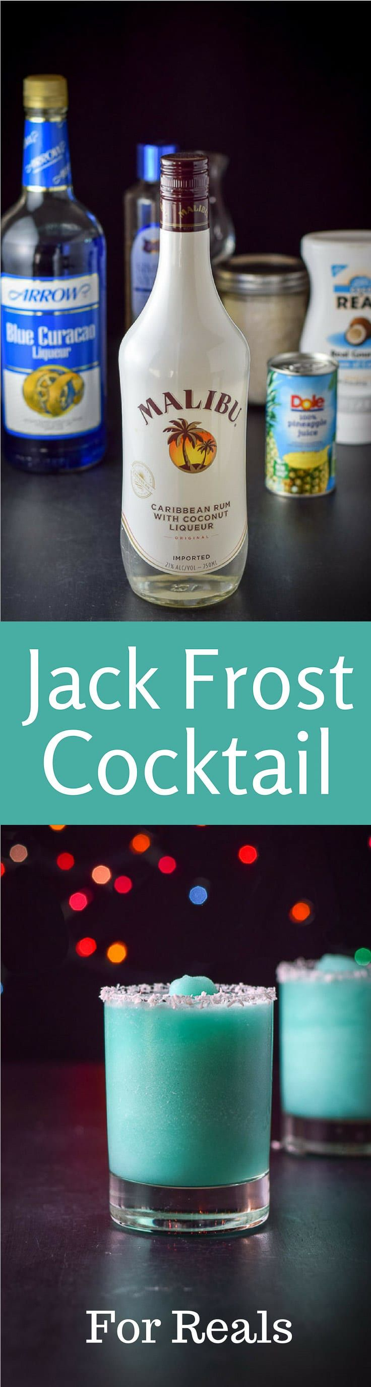 Year Round Jack Frost Cocktail is so delicious that you will want it all the time. Slushy and coconuty and super delicious! https://ddel.co/jckfst via @dishesdelish