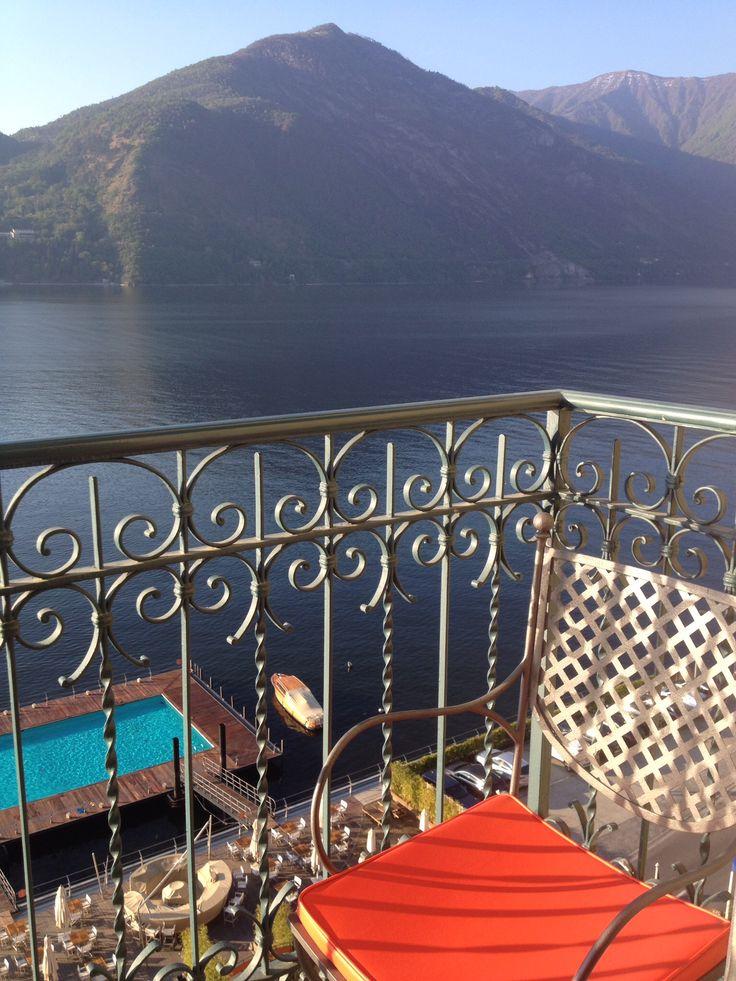 At #GrandHotelTremezzo - pool on the lake and private boat, Ruy. ❤️ Lake Como