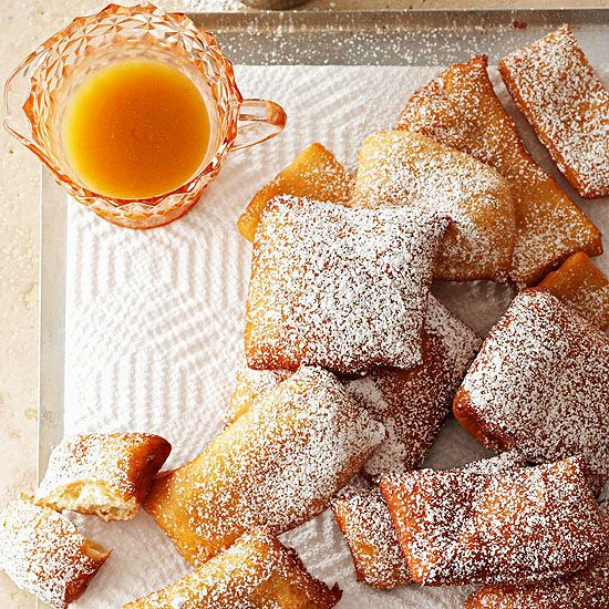 Canela Bunuelos with Anise Syrup- a Mexican dessert that is a funnel-cake-like treat with cinnamon!