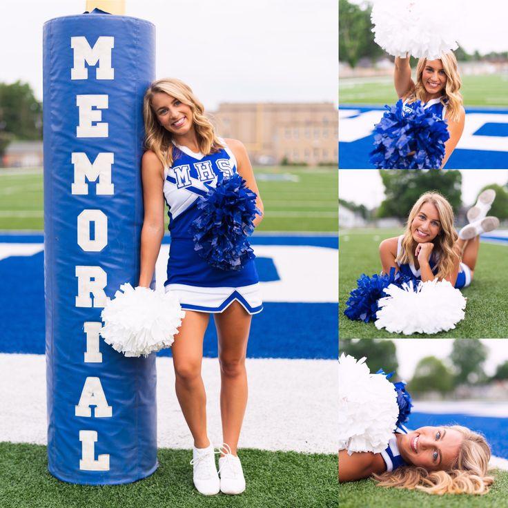 Cheer High School Senior Pictures:: Pom Poms // Football // Cheerleader //