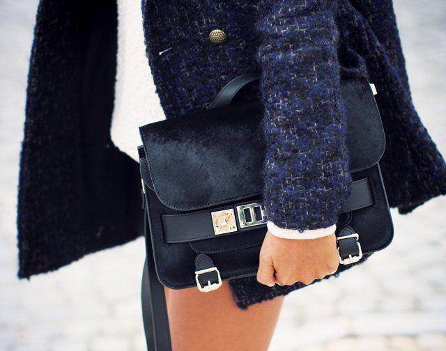 Black Calf-Hair PS11 Classic Bag by Proenza Schouler - $2575
