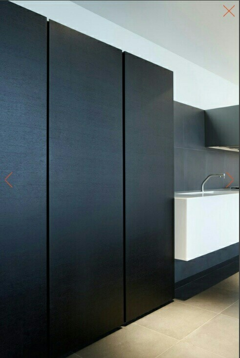 Joinery Cupboard Doors: - Floor to bulkhead ceiling - Shadow line top and bottom - Shadow line between sections
