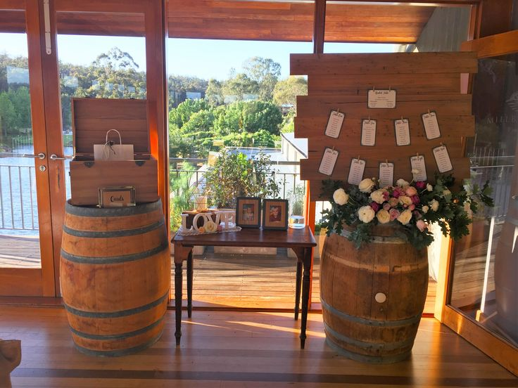 Weddings at Millbrook Winery | Florals - Signature Floral Design | Barrels - Millbrook Winery