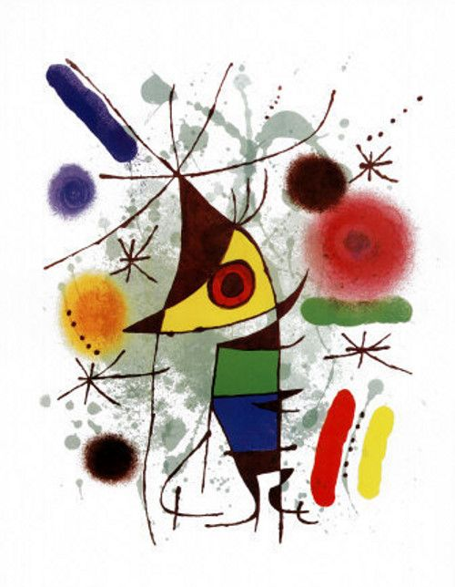 Joan Miro -  Singing fish poster/picture