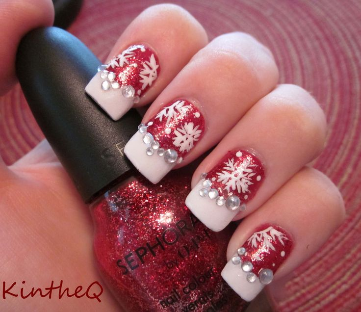 "Hand Painted Christmas Nail Art: Sephora By OPI ""Merry Me'"" With"
