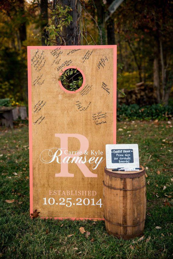 Customized Wedding Cornhole Boards by RamseysRustics on Etsy