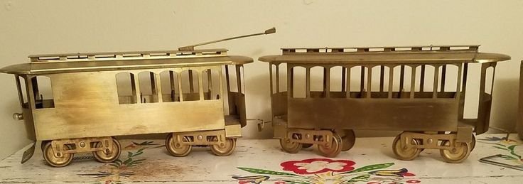 Roberts Lines Standard Gauge Trolley and Trailer | Toys & Hobbies, Model Railroads & Trains, Standard Scale | eBay!