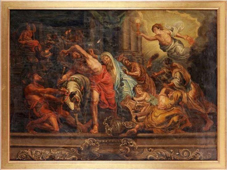 """Unbekannt(Niederländischer Maler, 2. H. 18. Jh.) Öl/Lwd. """"Sieg der wahren…"""