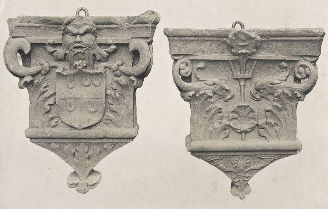 Anonimo , Anonimo fiorentino - sec. XV - Motivi decorativi; Stemma della famiglia Piccolomini - insieme
