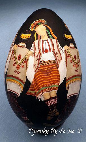Hutzul Dancers Pysanka Pysanky Ukrainian Easter Egg
