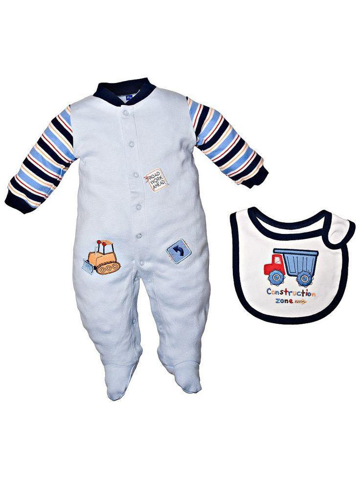 """Комбинезон и нагрудник """"Строитель"""" Hudson Baby голубой - купить в интернет-магазине Kinderly - артикул 50385"""