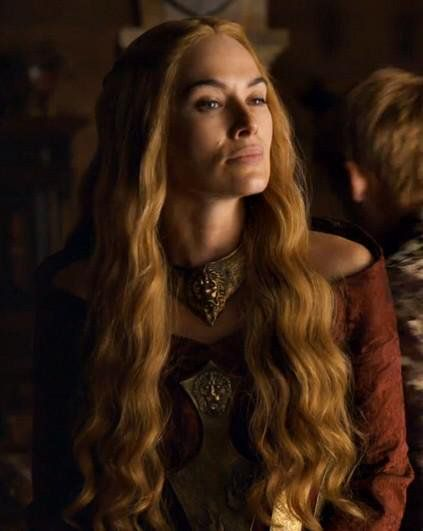 Cersei Lannister ...  so hot. I love her eyebrows.