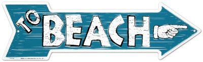 Beach Placa de lata na AllPosters.com.br