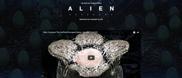 Introducing Alien: Covenant The Unofficial Animated Series! - Alien: Covenant Movie News