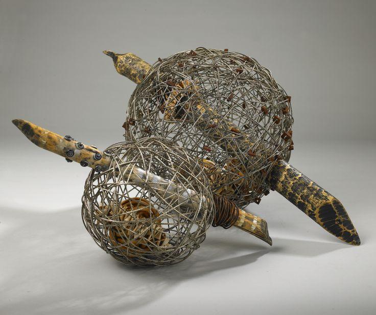TOSSED ASHORE:  Shannon Weber, Oregon woven, stitched, encaustic, paper, wire, bones,sticks, kelp