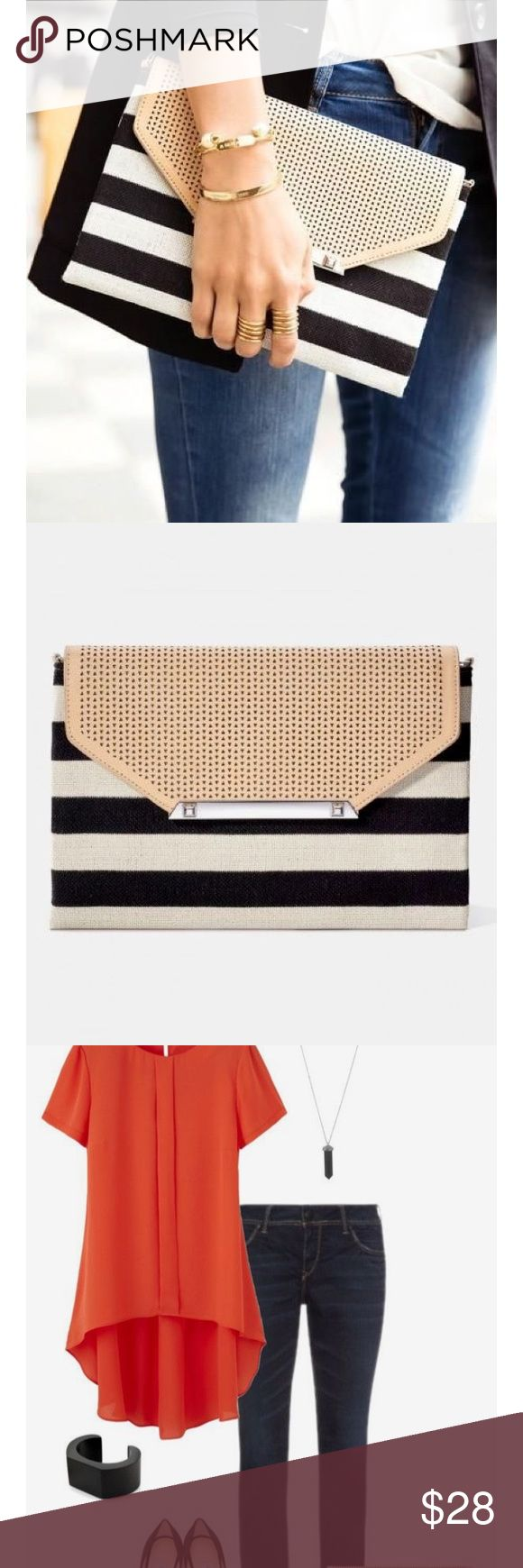 MUST HAVE!!! Stella and Dot Clutch Great Stella and Dot find! I am selling my authentic Stella and Dot striped Clutch bag. Almost never used and no sign of wear, everyone will think it's new! If you need to add to your classy Stella and Dot collection, this bag is going for around $40 on EBay.. I'm willing to negotiate, just send me a message you never know what deal you can get! Stella & Dot Bags Mini Bags