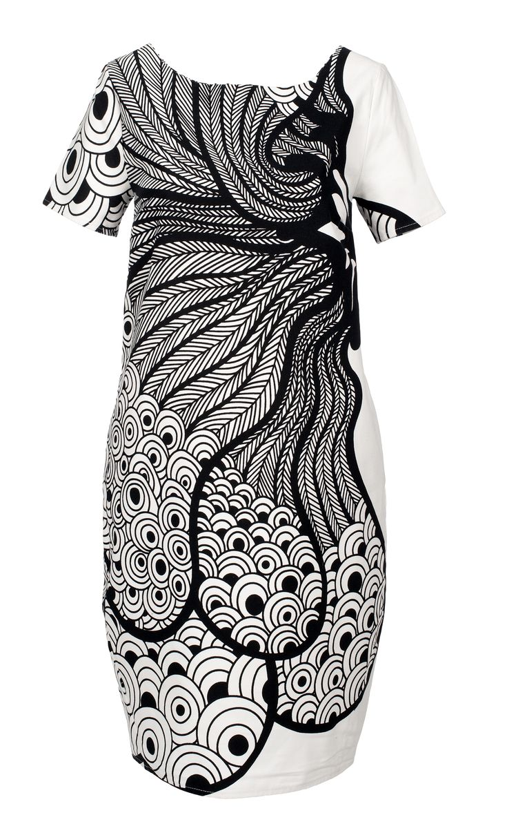 Black and white peacock print - by Dressfactor