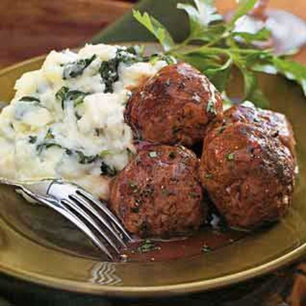 Braised Meatballs in Red-Wine Gravy