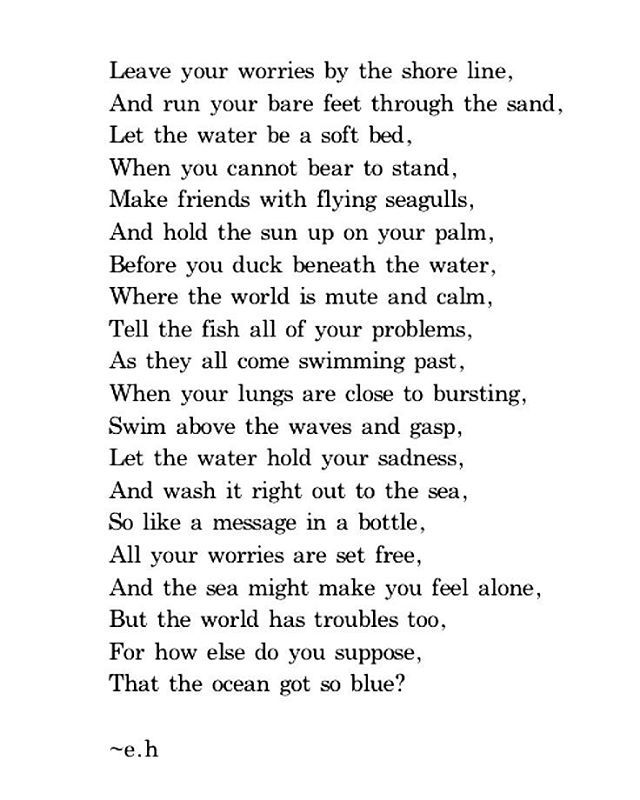 Poem about the sea