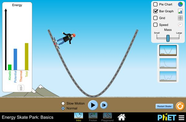 Energy Skate Park Virtual Lab!! kinetic energy, potential energy, and conservation of energy