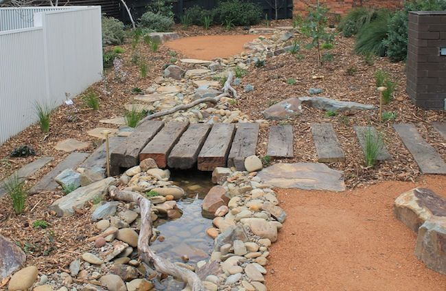 #garden #landscape #australia #native #creek #rock #native #sustainable