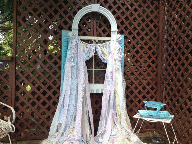 Simply Shabby Chic Curtains Rachel Ashwell Vintage Fabric Handmade OOAK Ribbon SSCRA By ChangesByNeci