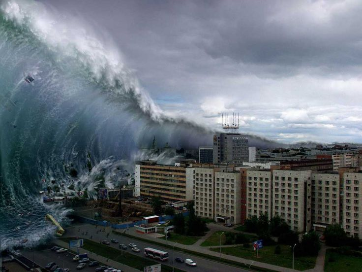 After seeing pictures of this tsunami, I will never complain about another hurricane.   What  a force of nature.