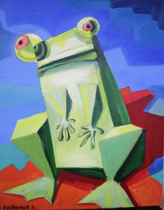Imre Karrus Szekeres: Kiss me! - 2012. 60 x 40 cm, 42.9 x 15.75 inch  Oil, canvas (This painting was stolen)