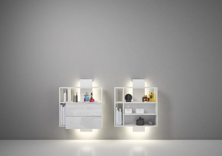 Wall mounted Bedside Table With Drawers CONTATTO Estel