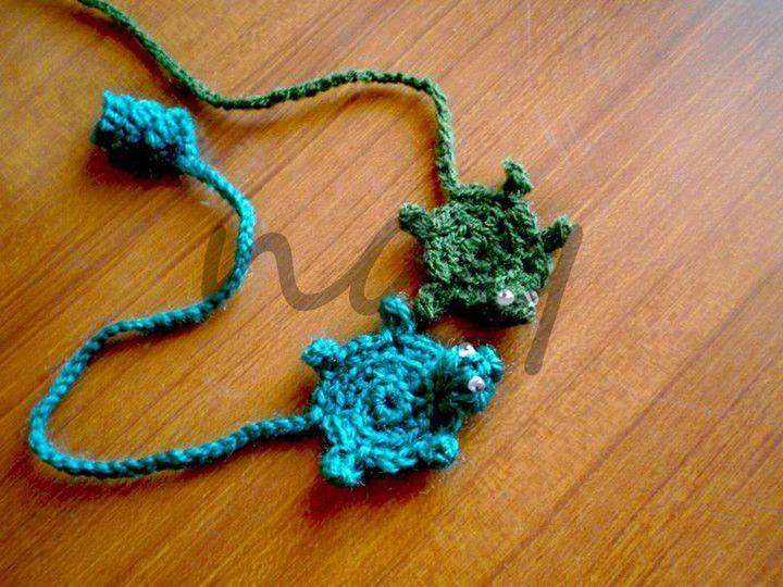 Cute Crochet Turtle Bookmark BM6 from nay handmade by DaWanda.com