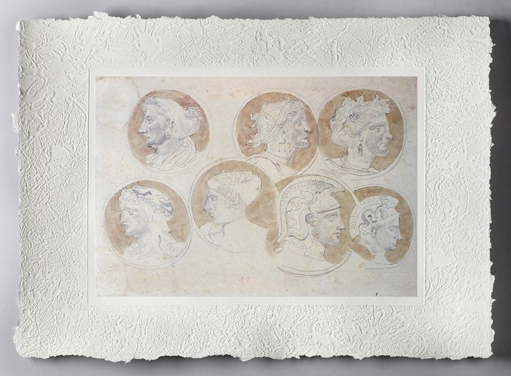 EUGENE DELLACROIX: Studio di medaglioni