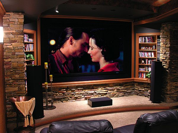 Earthy Home Theater