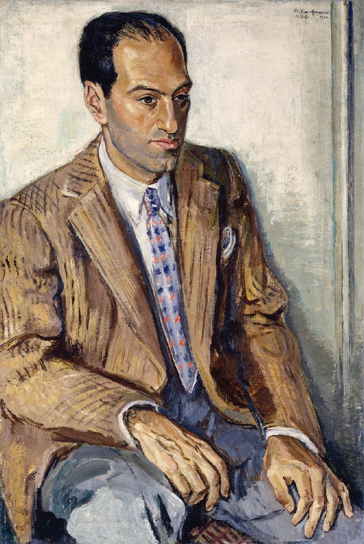 George Gershwin - painting by Arthur Kaufmann 1936.  National Portrait Gallery, Smithsonian Institution