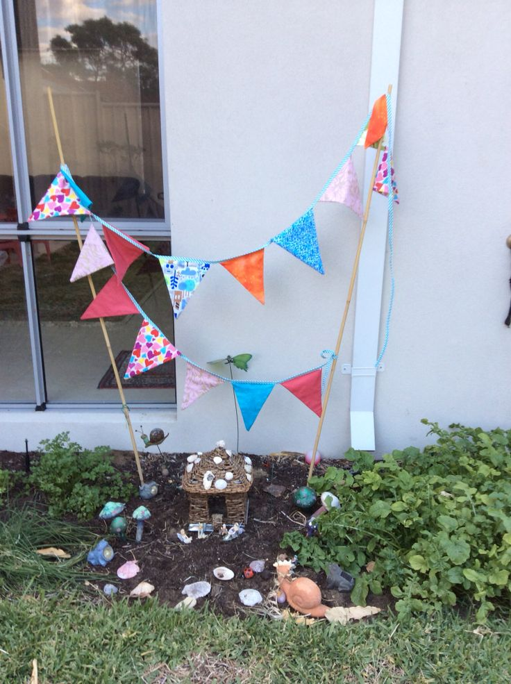 Bunting for the fairy garden