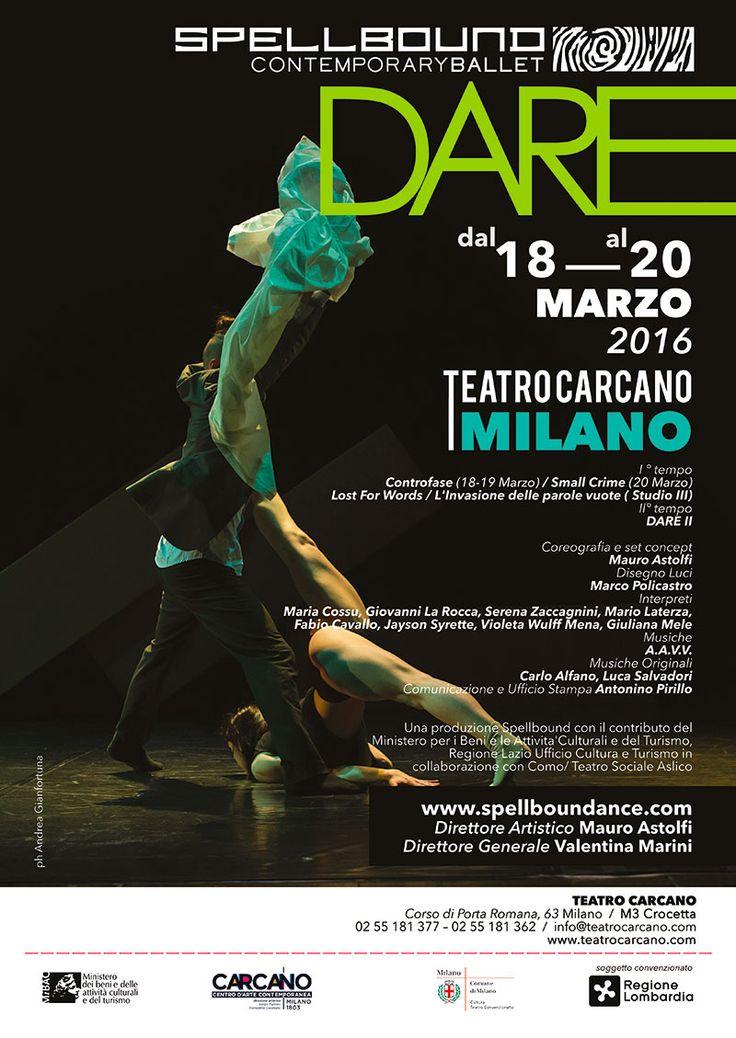 DARE - Spellbound Contemporary Ballet | Teatro Carcano | Locandina ufficiale