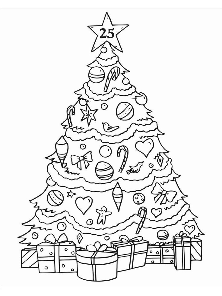 Christmas Ornament Coloring Pages Pdf Christmas tree