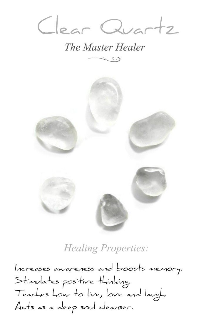 Healing. Clear Quartz Gemstone Pendant