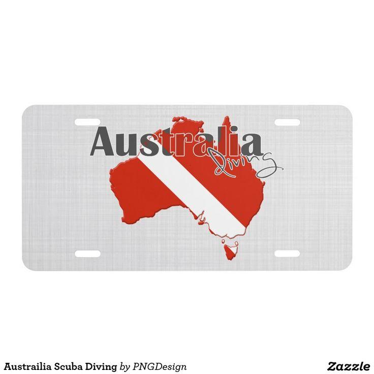 Austrailia Scuba Diving License Plate