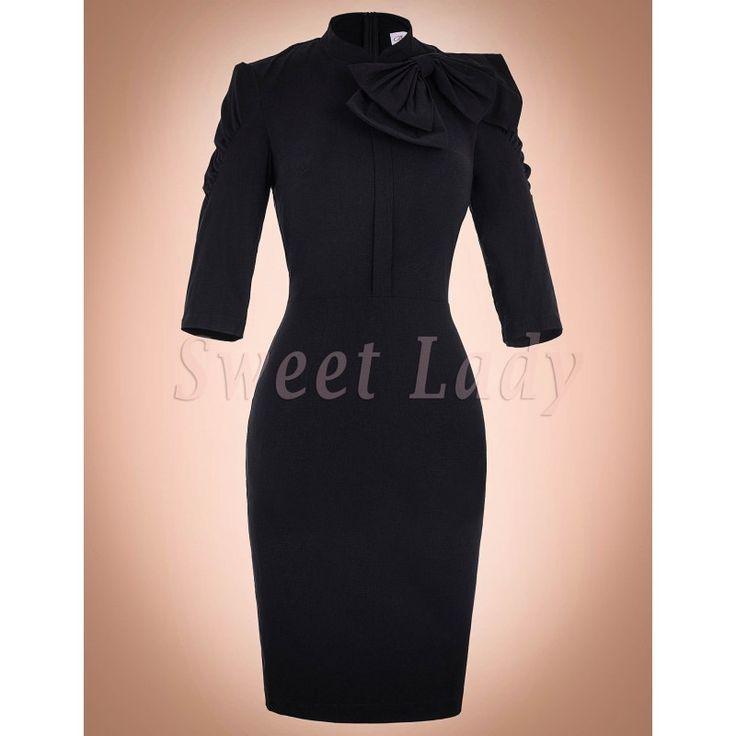 Priliehavé čierne vintage šaty