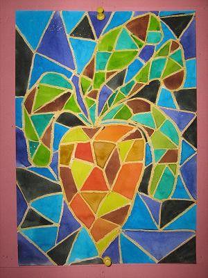 Ovoce a zelenina - vitráž