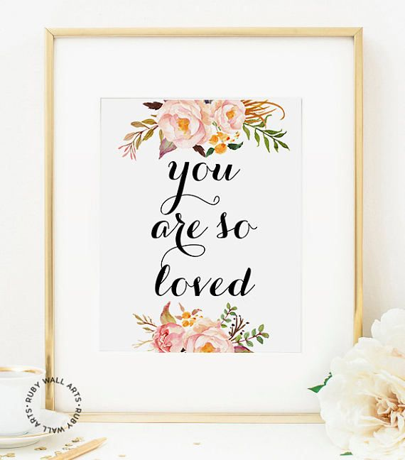 You Are So Loved Sign You Are So Loved wall decor baby
