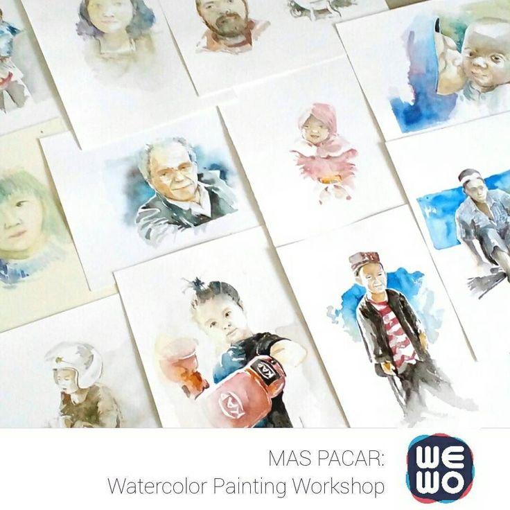 Ingin belajar melukis Self-Potrait yang keren?  Yuk join workshop seru MAS PACAR Special: Watercolor Painting bersama kak @andy.dwi.tjahyono!  Minggu 29 Mei 2016 mulai jam 11.00 pagi di @Artland_store Menteng Huis Cikini  Segera daftar di sini: daftar@wewocraft.com  #weekendworkshop #wewocraft #watercolor #painting #art #workshop by wewocraft