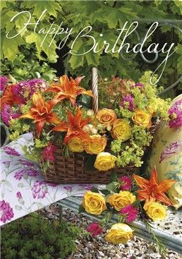 Posies & Petals Card 3550 from www.abacuscards.co.uk , mary 2015  MARY2015/