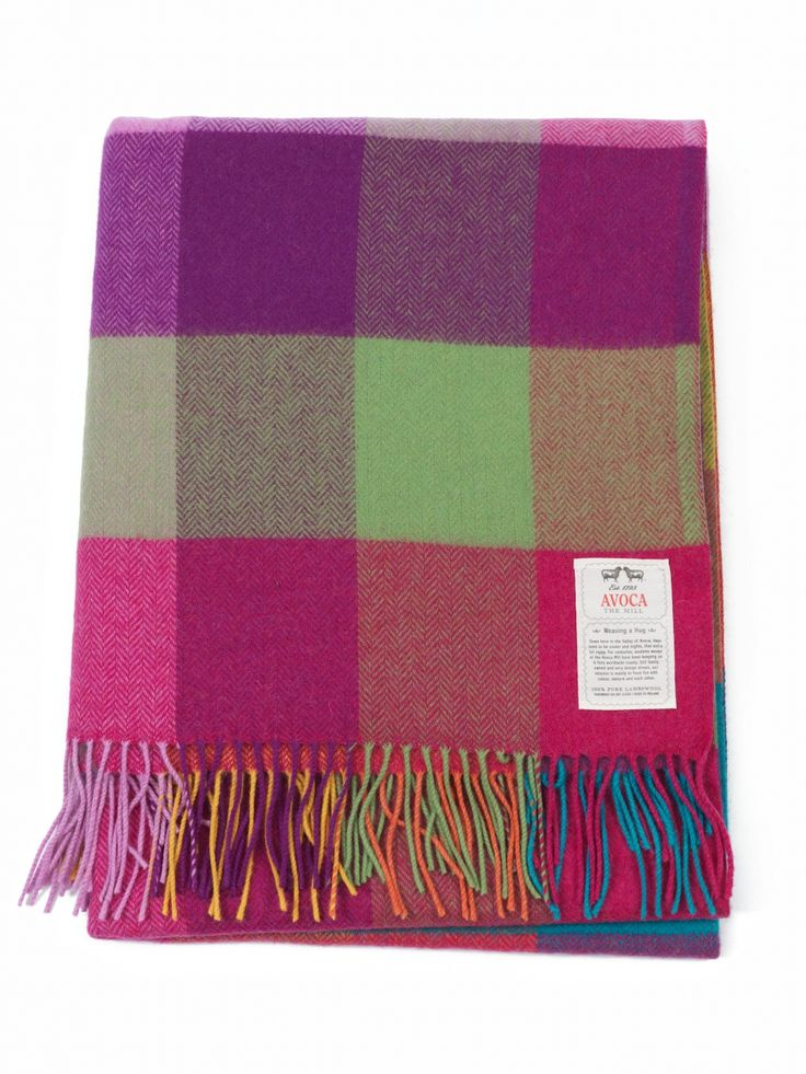 Choose a Colourful Lambswool Throw from Avoca. An Avoca bestseller, the multi-coloured Circus Throw is ideal to throw over a sofa or bed, luxurious as a present, and fun too. Avoca.com