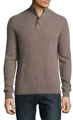 this sweater a cozy feel! Black Brown Cashmere Heathered Sweater #summer #menswear #mensstyle #sweater